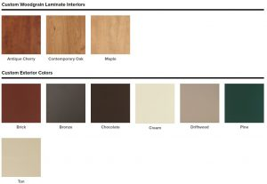 Atlanta Vinyl Window Color Options